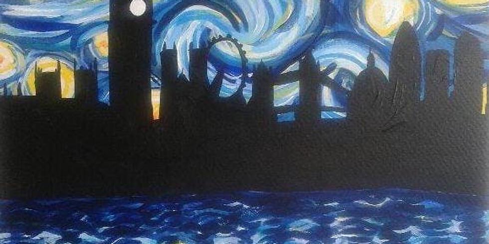 Starry Night over London (Van Gogh Style)