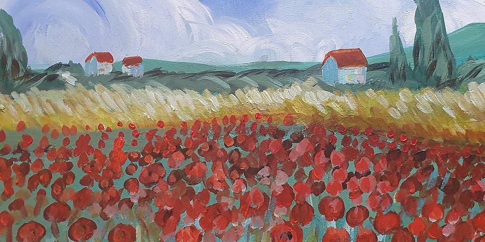 Poppy Fields Van Gogh style!