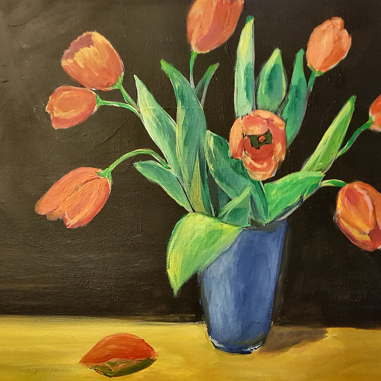 PRIVATE EVENT - SPICE - Tulips in blue vase