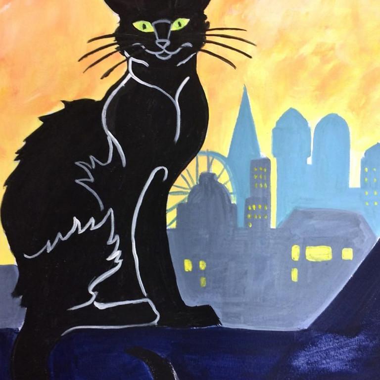 ONLINE Chat Noir (in London) - Lautrec style