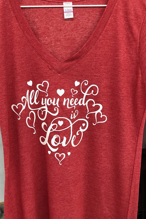 All You Need is Love V-Neck