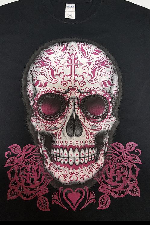 Pink & White Skull T-Shirt