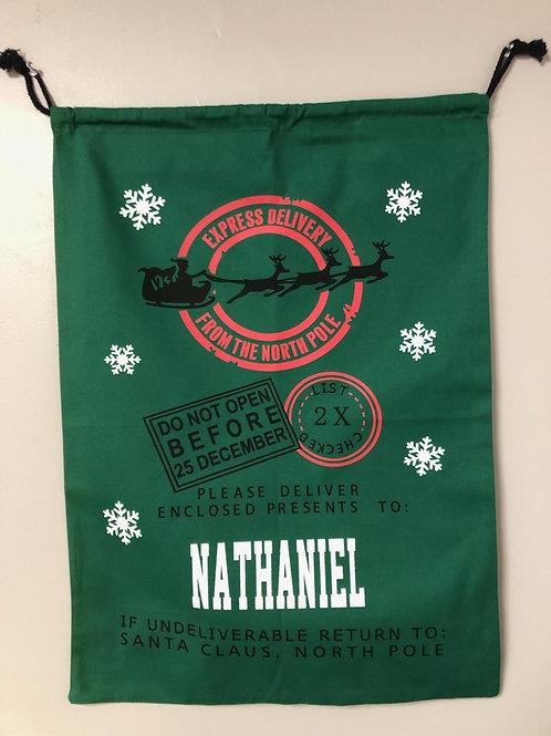 Personalized Christmas Santa Bag