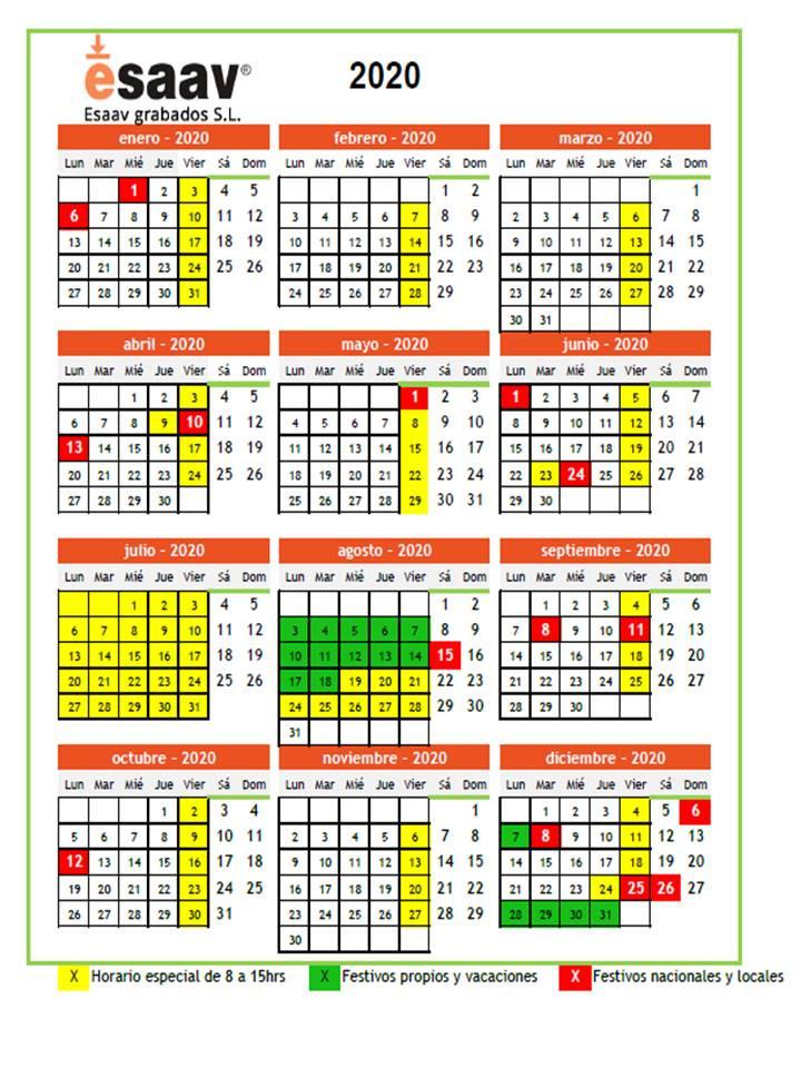 Consulta nuestro horario y días festivos
