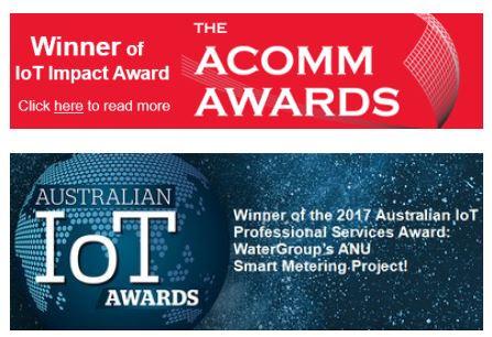 water meter iot award