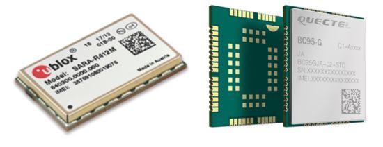 NB-IoT water meter radio modules