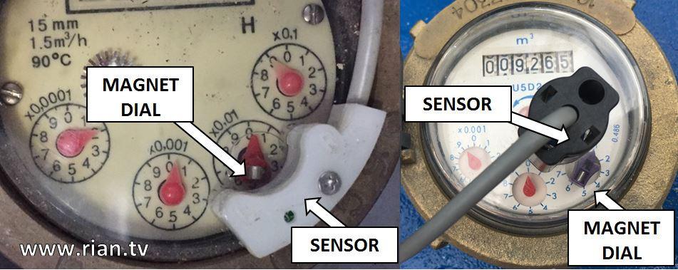Water Meter Pulse Sensor