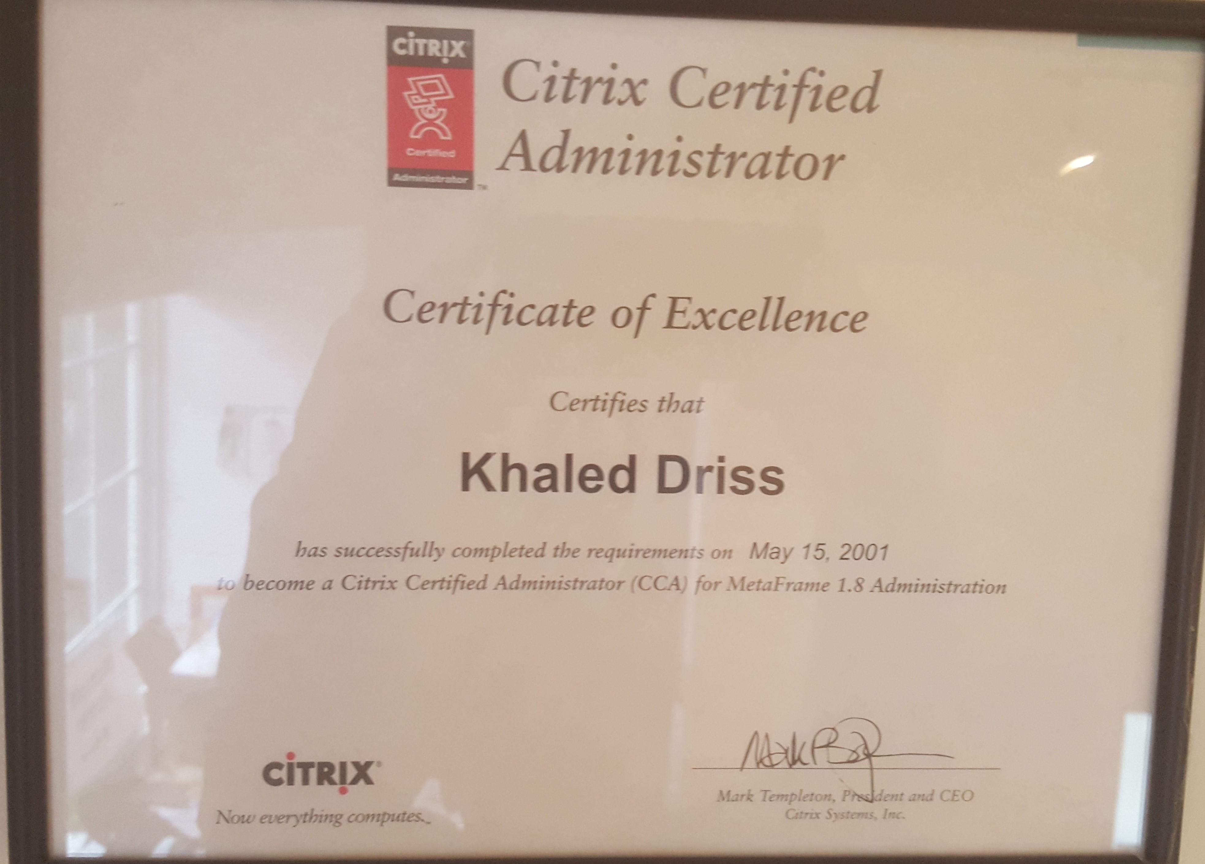 Citrix Administrator