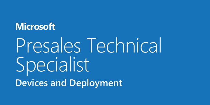 Microsoft Presales Technical Specialist