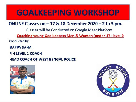 online Workshop for young Goalkeepers...