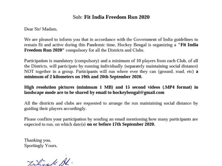 FIT INDIA FREEDOM RUN 2020