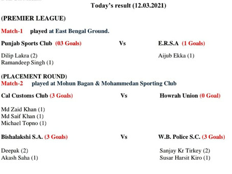 Match Result (12/03/2021)