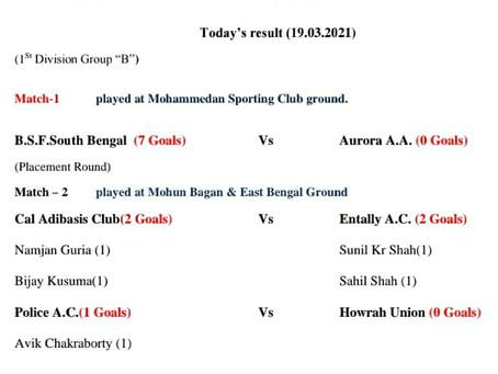 Match Result (19/03/2021)