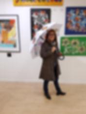 Les Bla Bla... Exibition Dany.M.Reginato Artiste peintre Parapluie