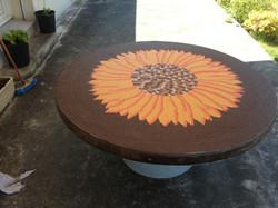 Table Mosaïque tournesol 2m