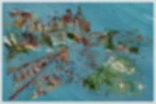 Mon château - huile et  encre- Dany.M.Reginato Artiste Peintre