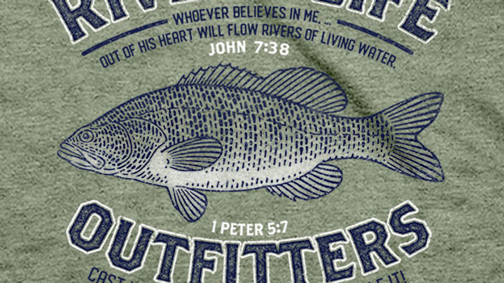 Kerusso Christian T-Shirt Living Waters 1 Peter 5:7