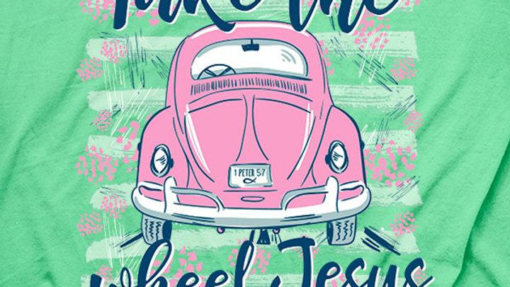 Cherished Girl® Womens T-Shirt Jesus Take The Wheel