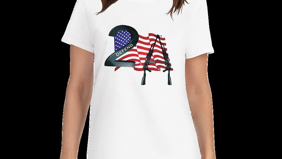 Women's short sleeve t-shirt-Women's Defend 2A