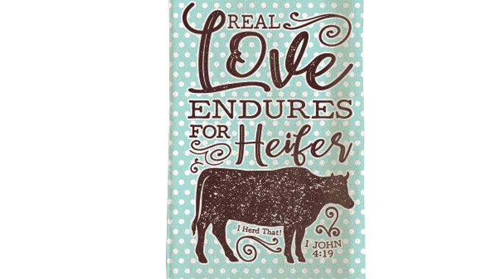 grace & truth Heifer Tea Towel