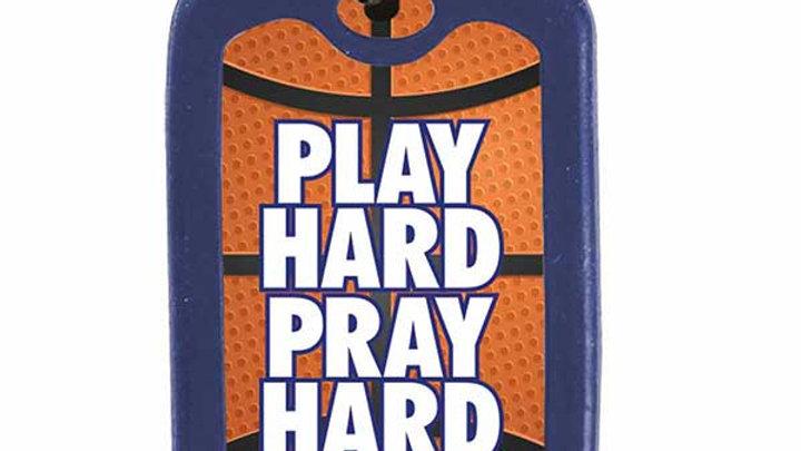 Play Hard Pray Hard Dog Tag Necklace