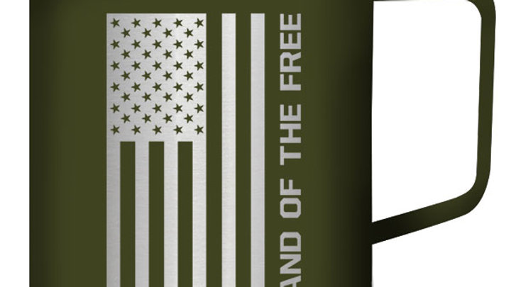 Kerusso Land Of The Free Stainless Steel Mug With Handle