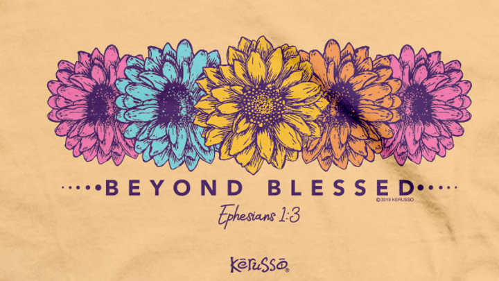 Kerusso Christian T-Shirt Beyond Blessed Luke 1:45