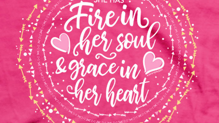 Kerusso® Womens T-Shirt Fire In Her Soul