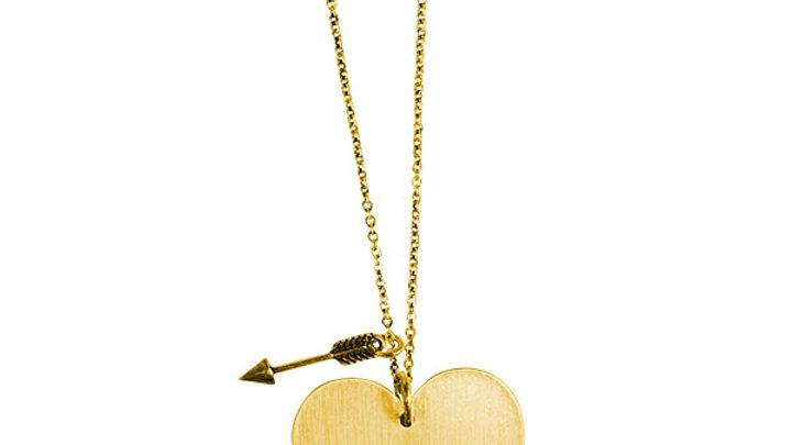 Faith Gear® Love Never Fails Womens Heart Necklace