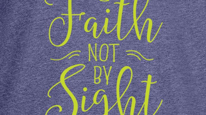 grace & truth Womens Hoody T-Shirt Walk By Faith 2 Corinthians 5:7
