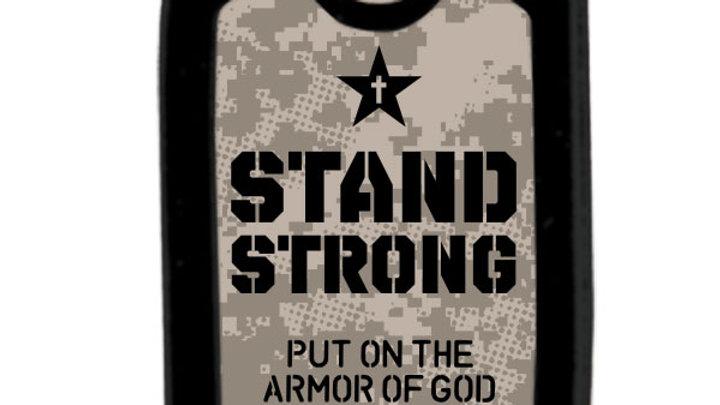 Faith Gear Christian Faith Tag Necklace Stand Strong