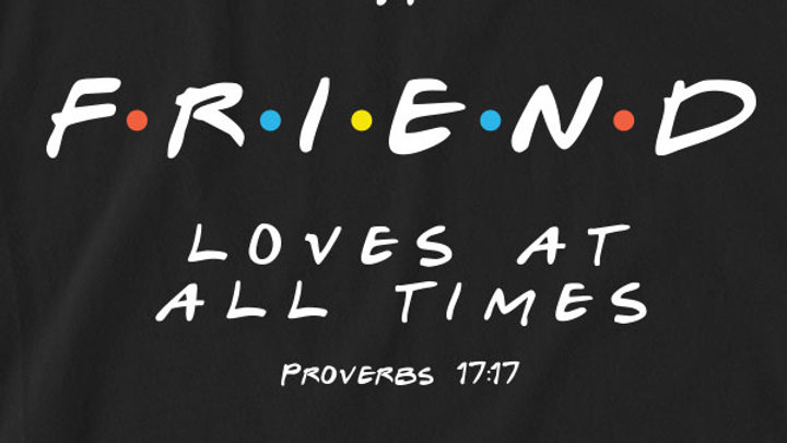 grace & truth Womens Raglan T-Shirt Friend Proverbs 17:17