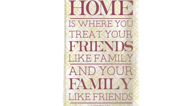 grace & truth Home Friends Family Tea Towel