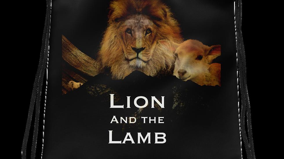 Lion and the Lamb- Drawstring bag