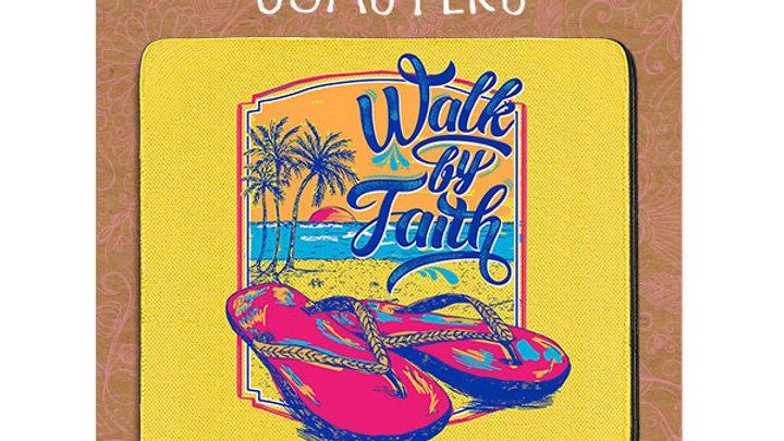 Cherished Girl Christian Drink Coasters Walk by Faith