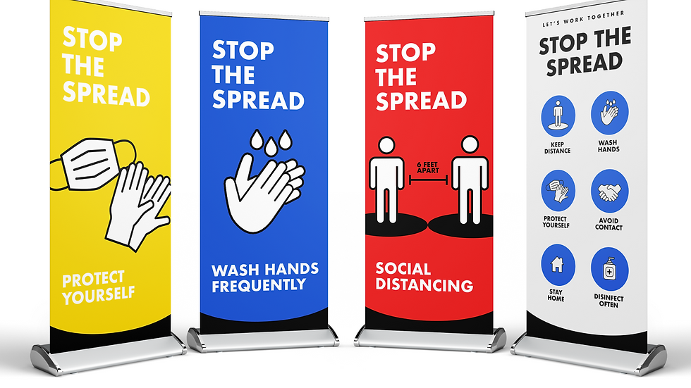 Covid-19 Pull up banners!