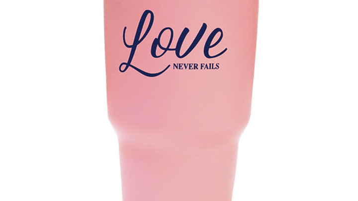Kerusso Love Never Fails Stainless Steel Tumbler