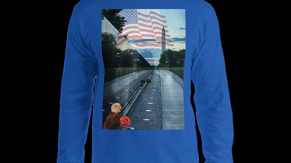 Men's Long Sleeve Shirt-Heal our Nation. © Divine Custom Designs LLC 2021