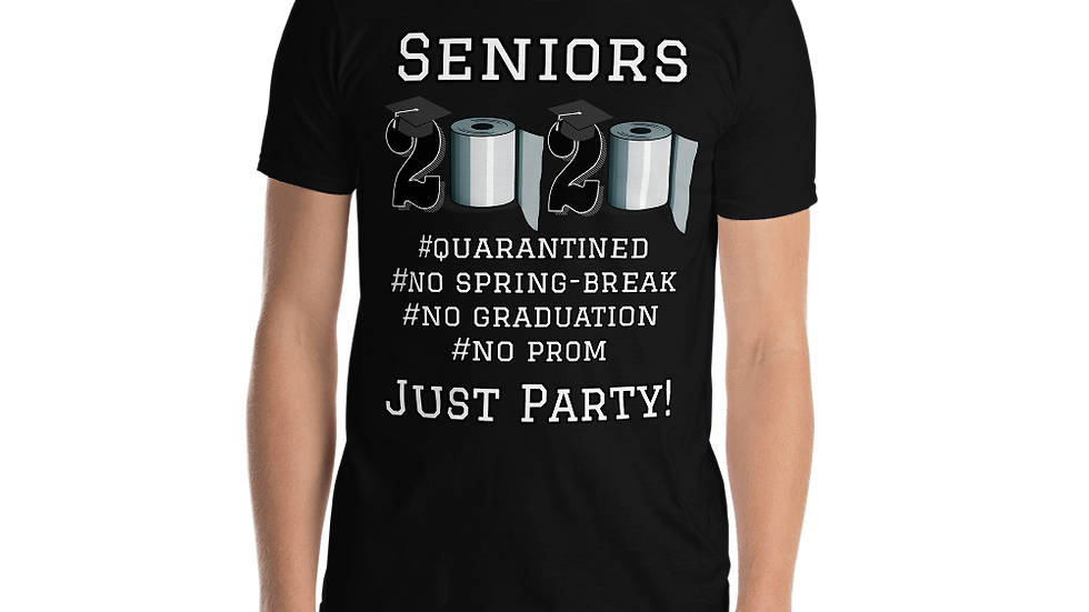 Seniors 2020- blk/navy-Short-Sleeve Unisex T-Shirt