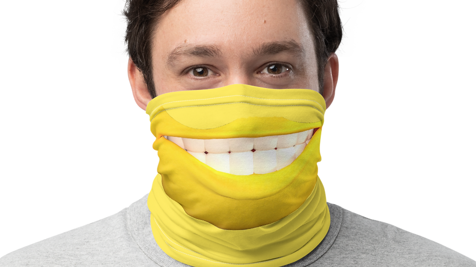 Neck Gaiter-Smiley Face