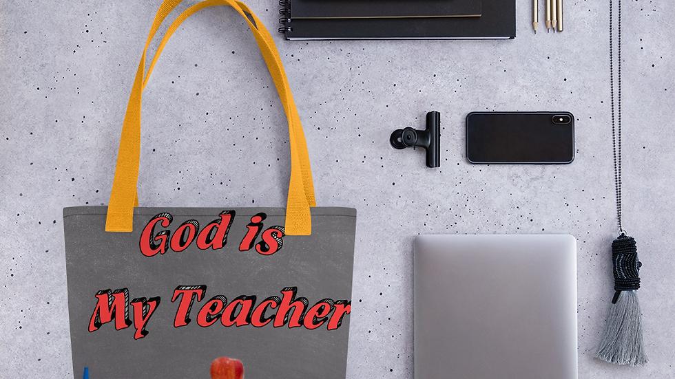 God is my teacher-Tote bag