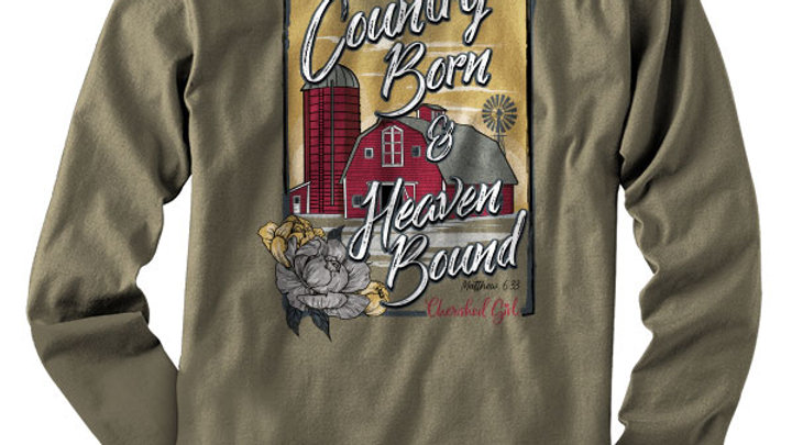 Cherished Girl Womens Long Sleeve T-Shirt Country Barn