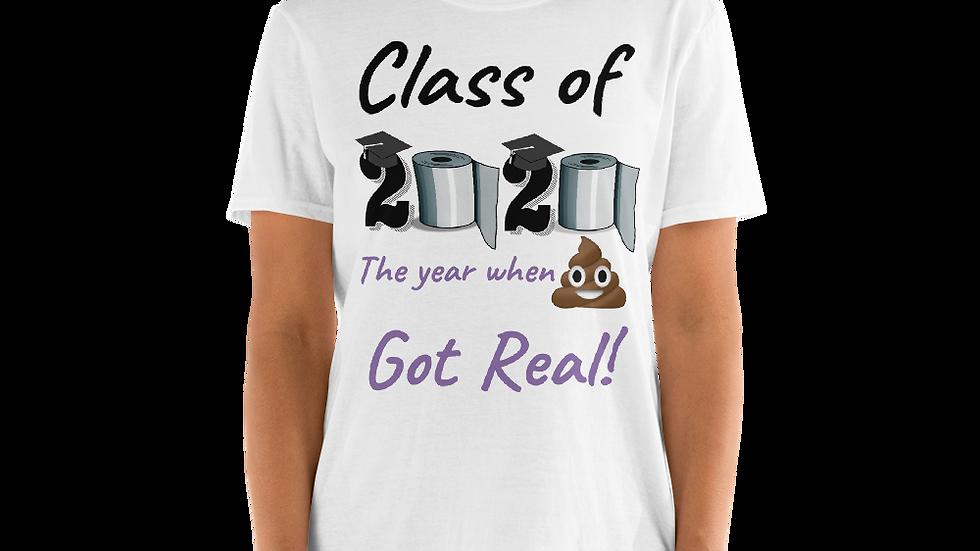 Class of 2020- Black/Purple- Short-Sleeve Unisex T-Shirt