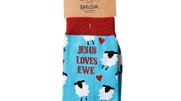 Kerusso Socks Jesus Loves Ewe