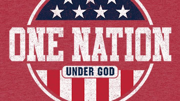 Kerusso® Kids T-Shirt Patriotic One Nation Under God Red