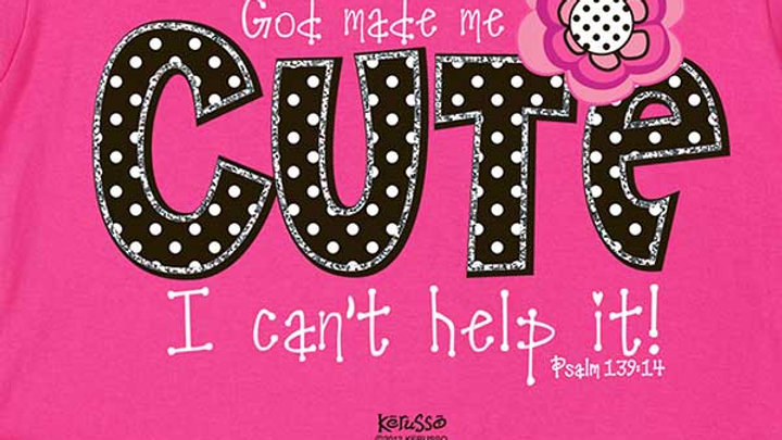 God Made Me Cute - Childrens Christian Shirt