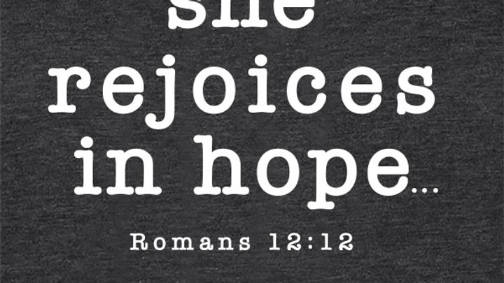 grace & truth She Rejoices Hooded T-shirt