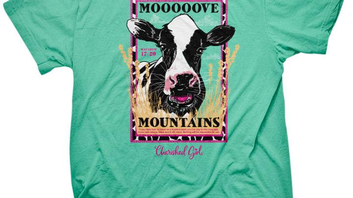 Cherished Girl Womens T-Shirt Moo