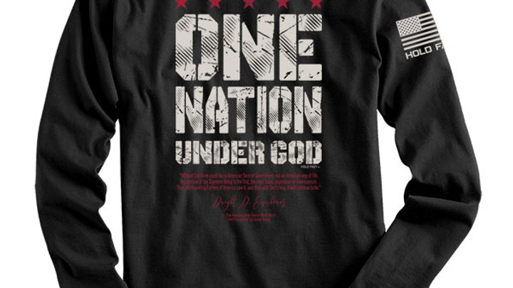 HOLD FAST Mens Long Sleeve T-Shirt Eisenhower