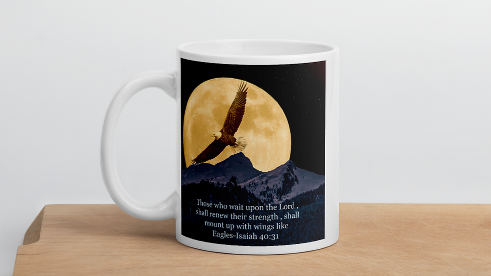 Mount up on wings of Eagles- Mug